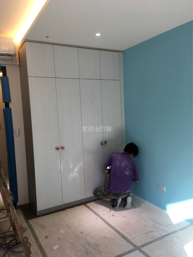 新竹系統家具公司系統家具組裝施工-衣櫃